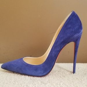 Christian Louboutin So Kate 120 Blue Suede